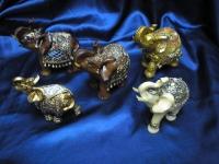 Miniaturas de Elefantes Indianos